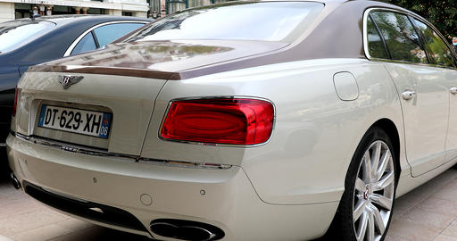 Bentley Flying Spur Rear View Live Action
