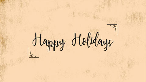 Animation text Happy Holidays on brown fashion and minimalism background Animation