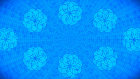 Broadcast Rotating Hi-Tech Abstract Patterns Wall, Blue, Events, 3D, Loopable, 4K Animation
