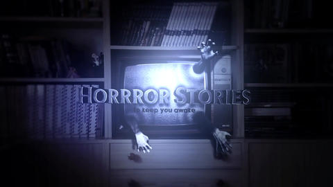 Creepy TV Intro After Effects Template