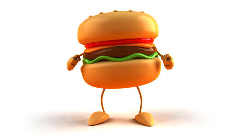 burger dance 1 Stock Video Footage