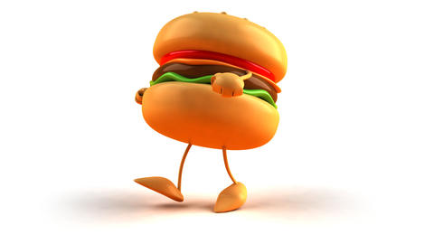 burger hiphop 2 Stock Video Footage