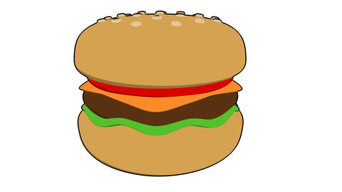 Burger Toon stock footage