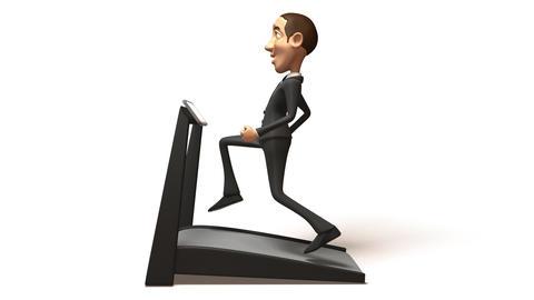 business treadmill 02 Stock Video Footage