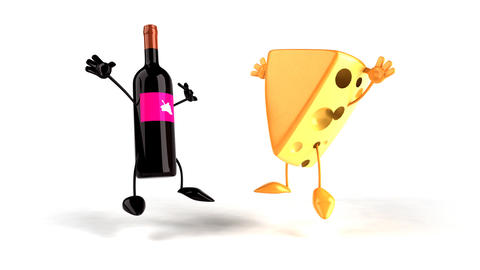 cheesewine 01 Stock Video Footage