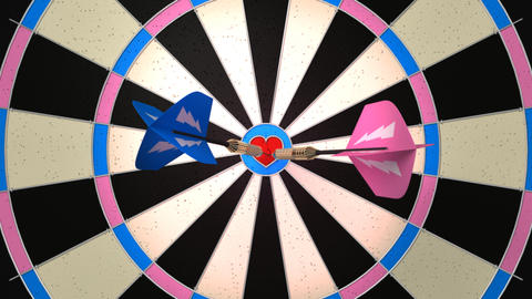 darts love Stock Video Footage