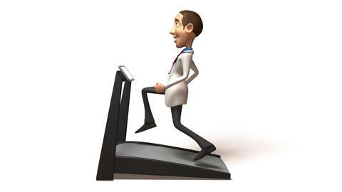doctor treadmill 02 Stock Video Footage