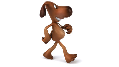 dog walk side HD Animation