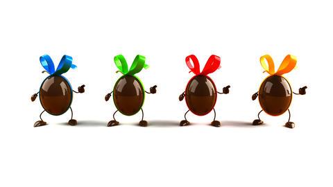 eggs dance Stock Video Footage