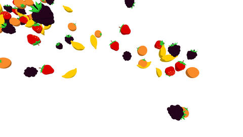 fruits flying2 Stock Video Footage