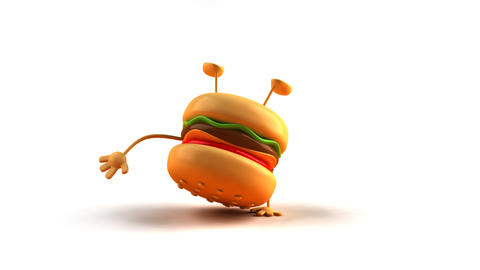 Hiphop Burger HD stock footage