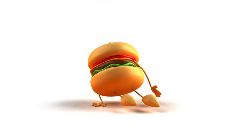 Hiphop burger HD Stock Video Footage