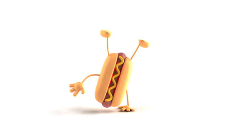 Hiphop hotdog HD Stock Video Footage
