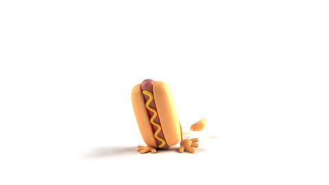 Hiphop hotdog HD Stock Video Footage