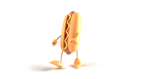 hotdog hiphop Stock Video Footage