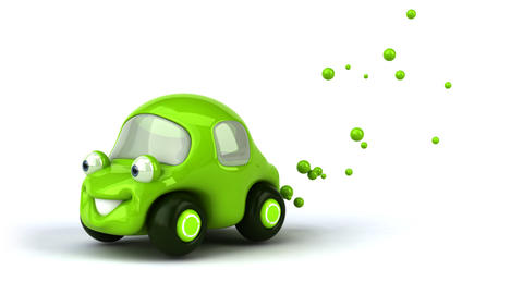 greencar2 Stock Video Footage