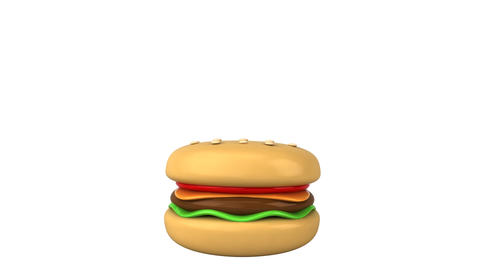 Happy Burger HD stock footage