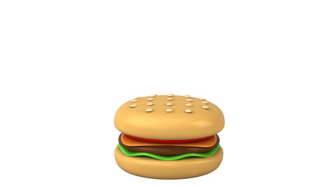 happy burger HD Stock Video Footage