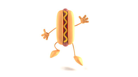 hotdog jump Stock Video Footage