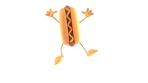 hotdog jump Stock Video Footage