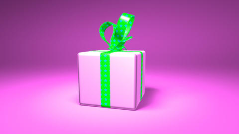 Pink Gift Box stock footage