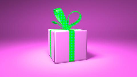 pink gift box Stock Video Footage