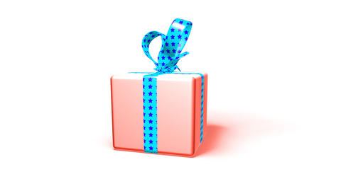 Gift Box stock footage