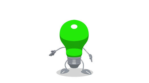 lightbulb toon jump Stock Video Footage