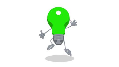 lightbulb toon jump Stock Video Footage
