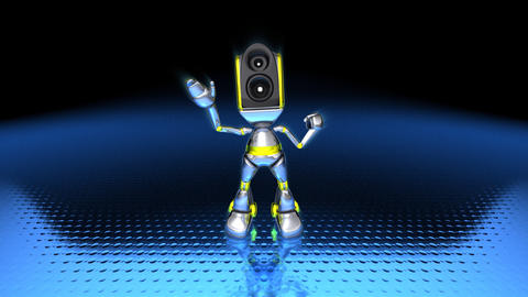 robotdance1 Stock Video Footage