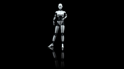 robotfemme Stock Video Footage