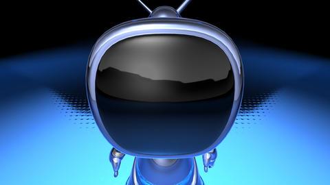 robot tv1 Stock Video Footage