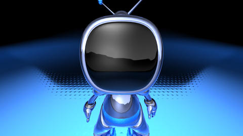 robot tv1 Stock Video Footage