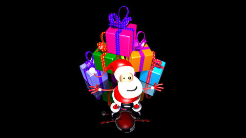 santa gifts Stock Video Footage
