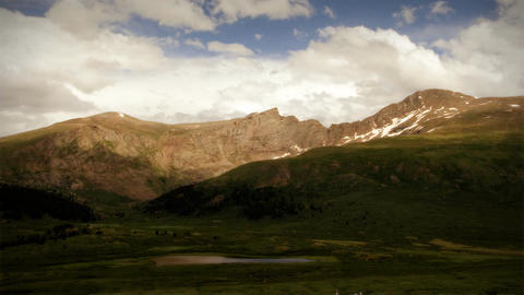 (1103) Wilderness Summer Mountain Storm Time Lapse Stock Video Footage