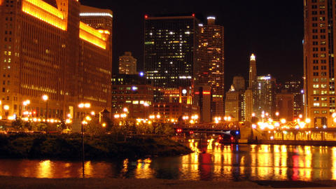 Chicago River Stock Video Footage