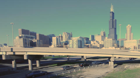 Highway Skyline Stock Video Footage
