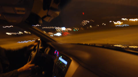 Inside Car Timelapse Stock Video Footage