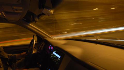 Inside Car Timelapse Stock Video Footage