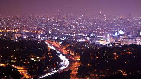 LA overlook Stock Video Footage