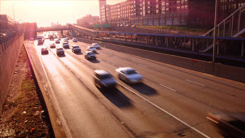 Morning Drive Stock Video Footage