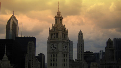 Wrigley Tower Stock Video Footage