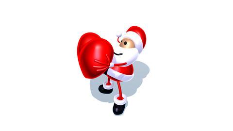 santa love2 Stock Video Footage