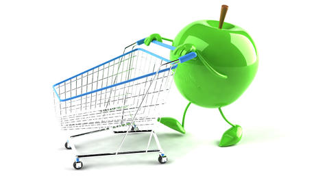 shopping cart apple 2 Animation