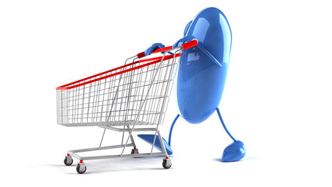 shopping cart mouse 2 Stock Video Footage