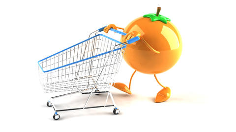 shopping cart orange 2 Animation
