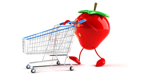 shopping cart strawberry 2 Animation