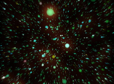 VJ Loop 380 Particles World 01 18s Stock Video Footage