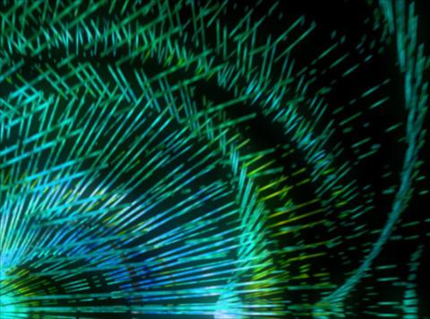 VJ Loop 395 Green Rotation 7s Stock Video Footage