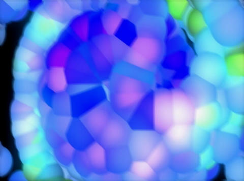 VJ Loop 405 3D Balls Blue Beat 27s Stock Video Footage